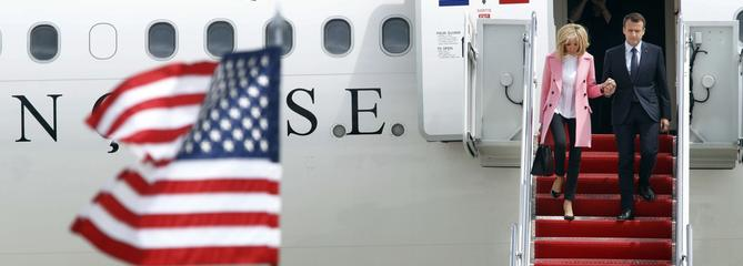 Macron est arrivé aux États-Unis pour une visite d'État de trois jours
