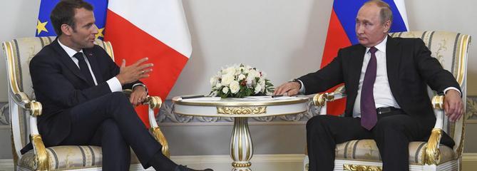 Poutine et Macron renouent le dialogue