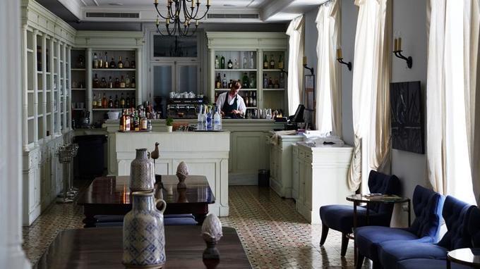 Le Poseidonion Grand Hotel situé à Spetses, ce palace centenaire garde la classe des grands hôtels d'autrefois, la modernité en plus.