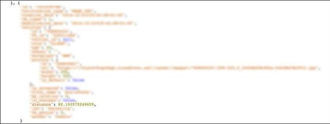 La distance avec un utilisateur de Happn, avant correction de la faille, ici, de 82,2 mètres.
