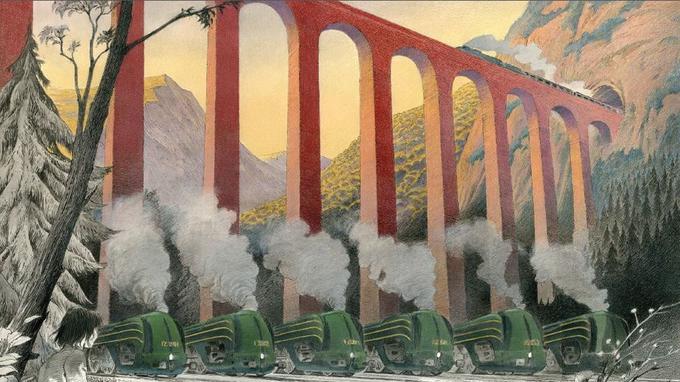 Les locomotives de François Schuiten