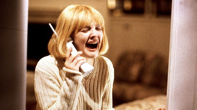 Drew Barrymore, dans <i>Scream</i>.