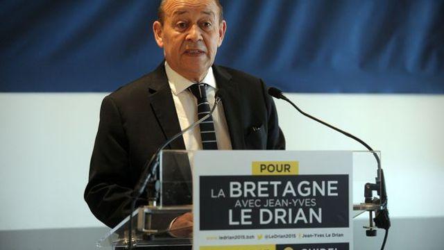 Jean-Yves le Drian, lors de son lancement de campagne