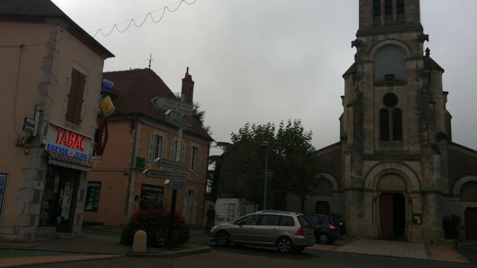Le centre ville de Varennes-sur-Allier, 3600 habitants. EUGENIE BASTIE/LE FIGARO
