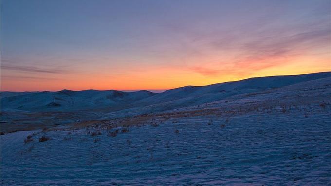 Des plaines à perte de vue, dans le centre de la Mongolie.