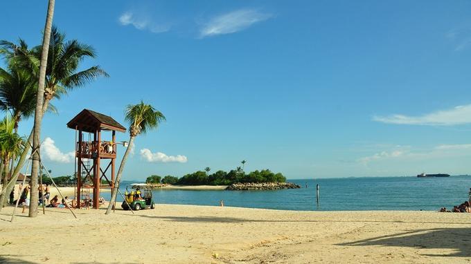 La plage Tanjung, sur l'île de Sentosa.