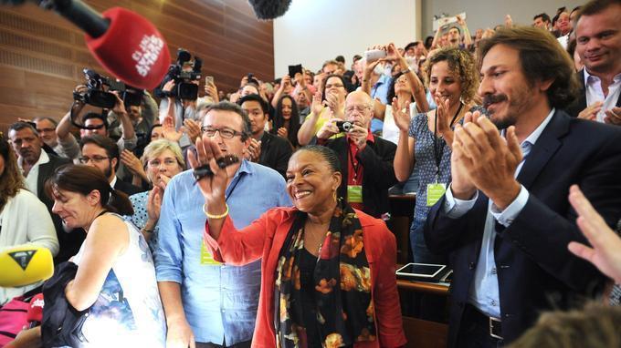 Christiane Taubira avec les frondeurs, à l'été 2014.