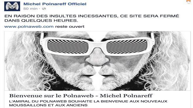 Michel Polnareff a expliqué sur compte Facebook son geste.