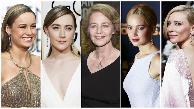 Brie Larson, Saoirse Ronan, Charlotte Rampling, Jennifer Lawrence, Cate Blanchett.