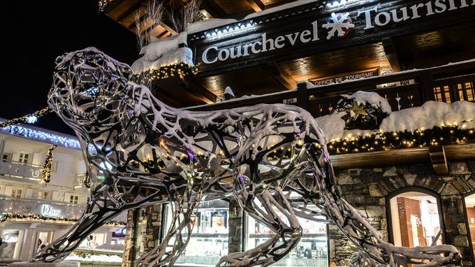 Le tigre dentelle est exposé à l'entrée de l'Office du tourisme de Courchevel. <i>(Crédit photo: Courchevel tourisme)</i>
