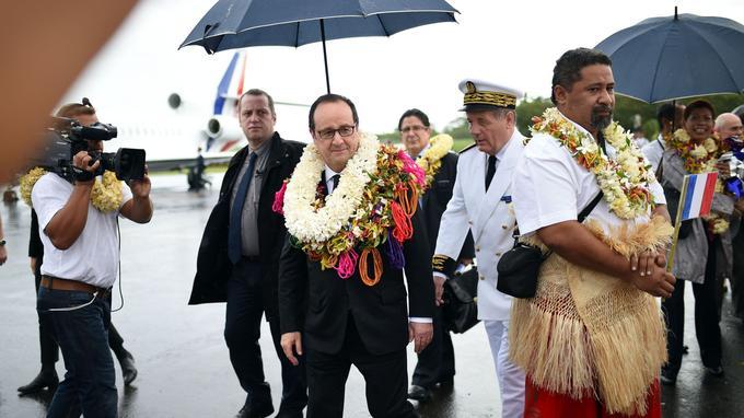 François Hollande a rappelé qu'il était le premier président à venir à Wallis depuis Giscard et qu'aucun président ne s'était rendu à Futuna.