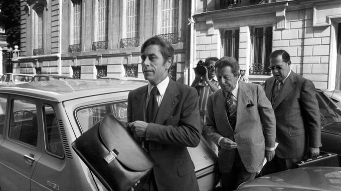 Yves Guéna , avec Charles Pasqua, en 1977.