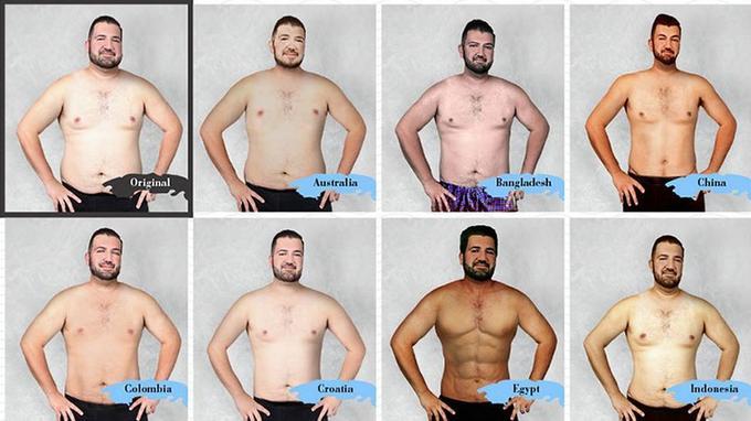 Retouché en fonction des critères de beauté de 19 pays différents, l'homme beau a plusieurs visages (Crédit photo: Superdrug Online Doctors / NYPhotoNY)