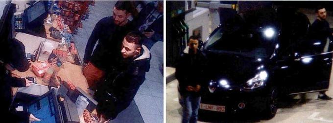 Deux jours avant les attentats de Paris, Mohamed Abrini sur des images de vidéo-surveillance dans une station-service et au volant d'une Clio noire en compagnie de Salah Abdeslam.