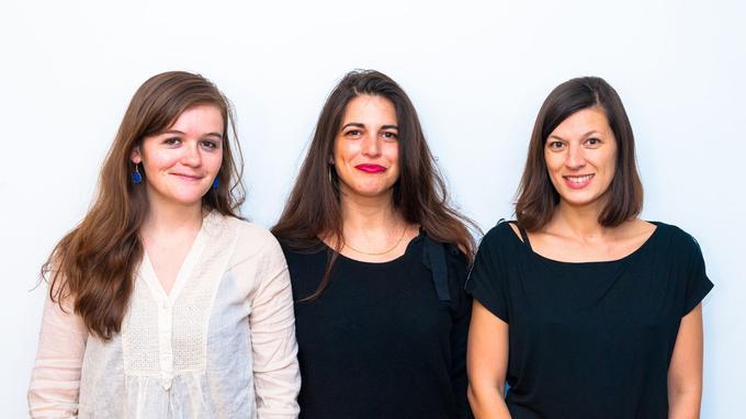 De gauche à droite: Héloïse Nio, Judith Aquien et Jennifer Leblond.