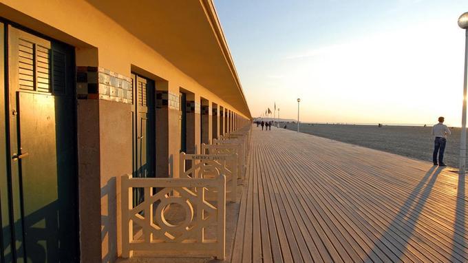 Les célèbres planches de Deauville.
