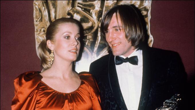 Catherine Deneuve et Gérard Depardieu lors de la cérémonie des Césars en 1981 à l'époque du <i> Dernier Métro </i>de François Truffaut.