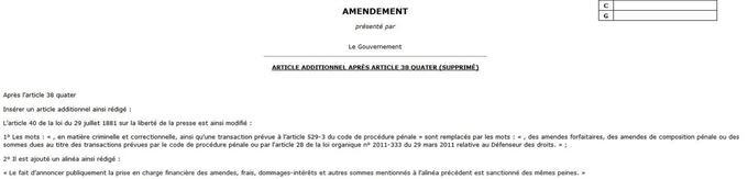 Extrait de l'amendement déposé par Bernard Cazeneuve.