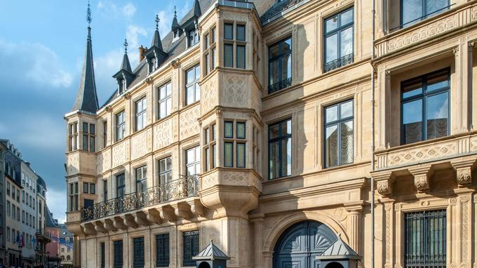 Le palais Grand Ducal.