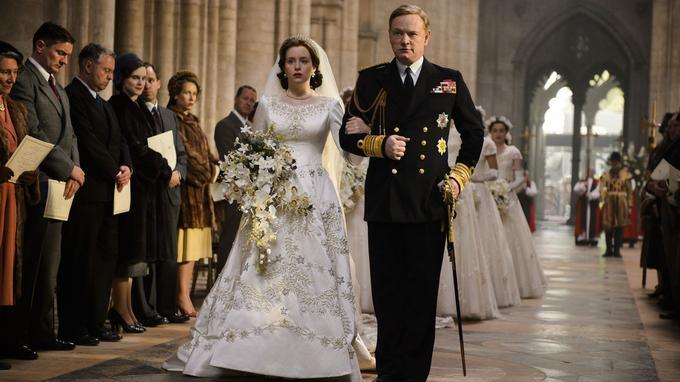 Le mariage d'Elizabeth 1er, dans la série. ©Alex Bailey/Netflix