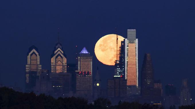 La super lune aux États-Unis.