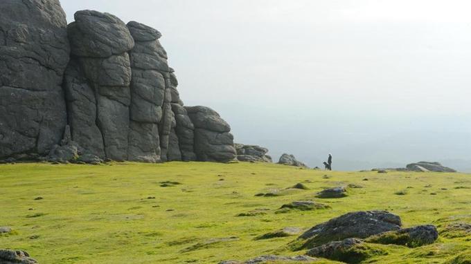 Haytor Rocks, dans le parc national de Dartmoor. © Olivier Roques-Rogery.