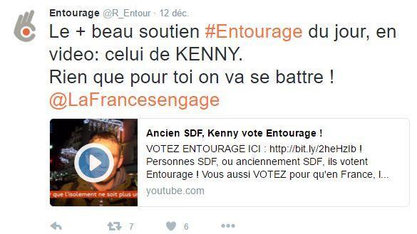 Les soutiens à Entourage se multiplient sur les réseaux sociaux.