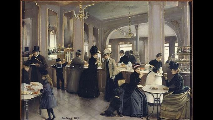 Jean Béraud, «La Pâtisserie Gloppe», avenue des Champs-Élysées, Paris, musée Carnavalet.