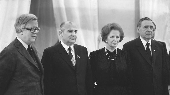Gorbatchev à Downing Street en octobre 1984