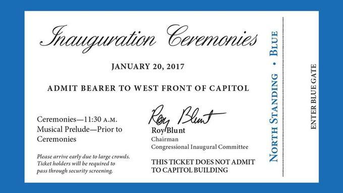 L'ancienne et la nouvelle Administration a distribué jusqu'à un million d'invitations pour la cérémonie d'investiture, au pied du Capitole.