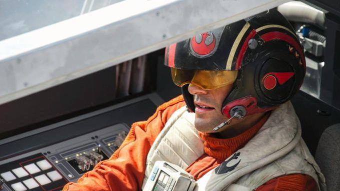 Oscar Isaac alias Poe Dameron dans Star Wars: le Réveil de la Force