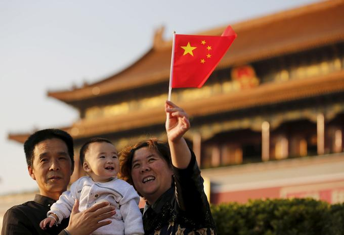 À la fin des années 1970, le parti communiste chinois avait mis en place la politique de l'enfant unique pour contrôler sa démographie. Place Tian'anmen, à Pékin.