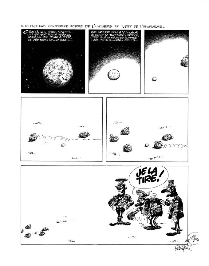 Avril 79 / Fluide Glacial N°34 , Idée noire n°27. ©André Franquin Éditions Audie- Fluide Glacial pour les Idées Noires.