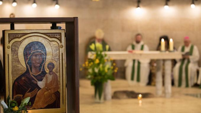 Le sanctuaire est censé être l'endroit où Jésus-Christ aurait accompli le miracle de la multiplication des pains.