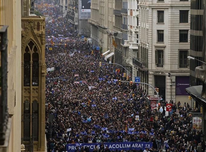 160.000 personnes ont manifesté dans les rues de Barcelone.