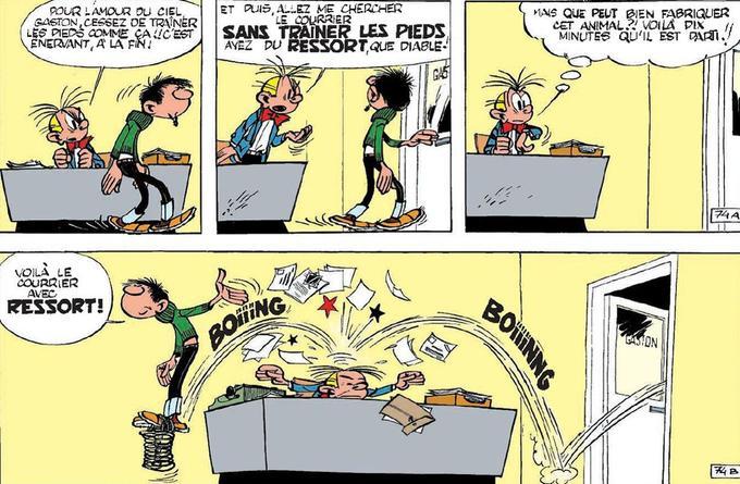 Gag 74 publié dans le Spirou 1106 du 25 juin 1959. ©Franquin/ Dupuis
