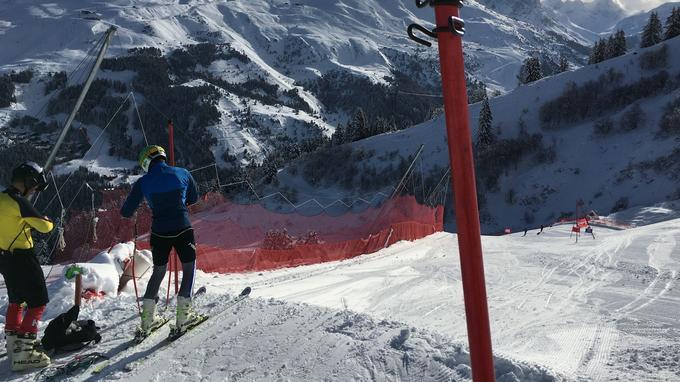 Des skieurs de l'ESF à l'entraînement. ©Stéphane Reynaud