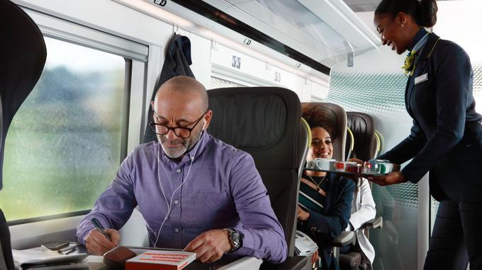 Dans la cabine, une ambiance feutrée. © Eurostar.