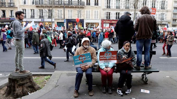 A Paris, pendant la marche entre Bastille et République.