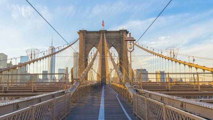 Le Brooklyn Bridge, à New York: la curiosité à l'égard des Etats-Unis semble baisser en France. © Jean-Nicolas Nault