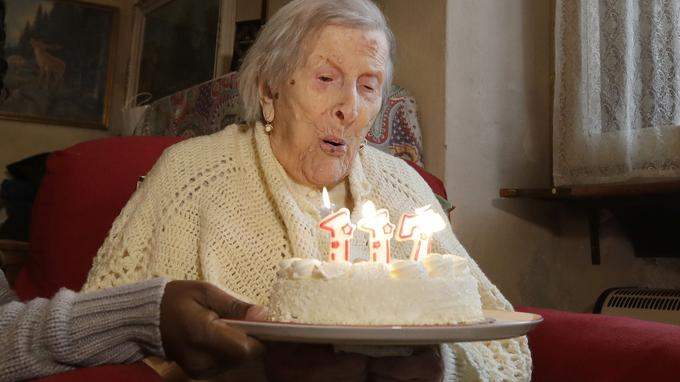 Emma Moreno, le jour de son 117e anniversaire.