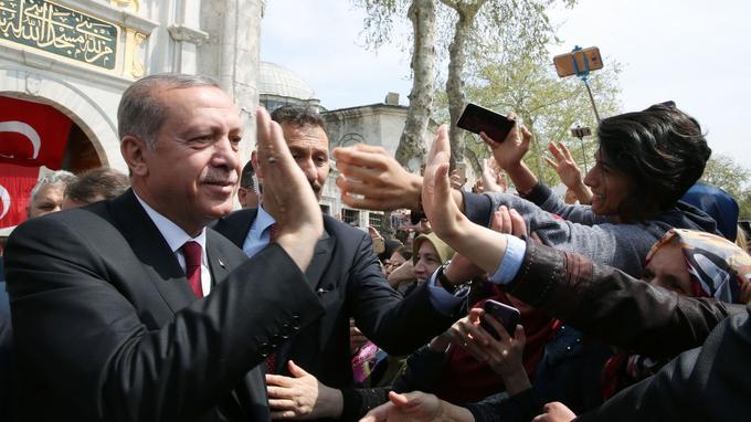 Recep Tayyip Erdogan lundi à Ankara.