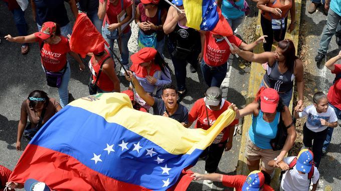 Des manifestants à Caracas, le 19 avril 2017.