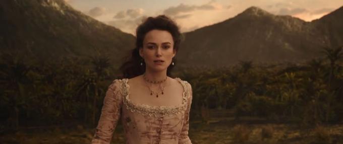 Keira Knightley dans son rôle d'Elizabeth Swann pour Pirates des Caraïbes