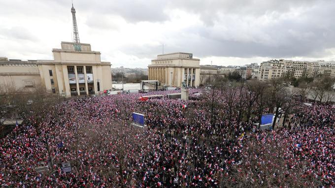La place du Trocadéro, le 5 mars.