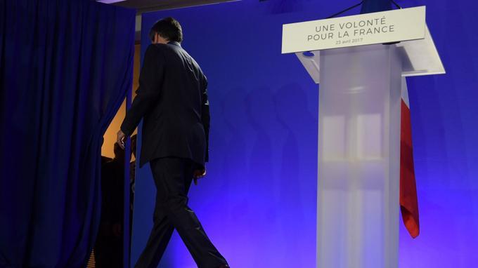 François Fillon au QG des Républicains hier soir.