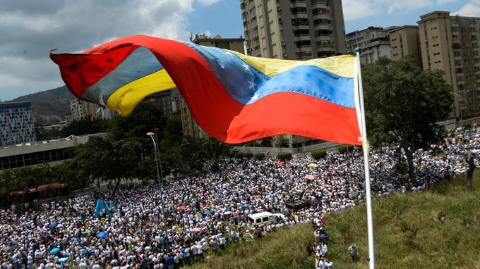 À Caracas, dimanche.