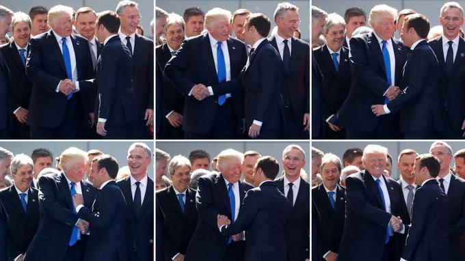 Donald Trump est connu pour secouer le bras de ses visiteurs avec une puissante poignée de main.
