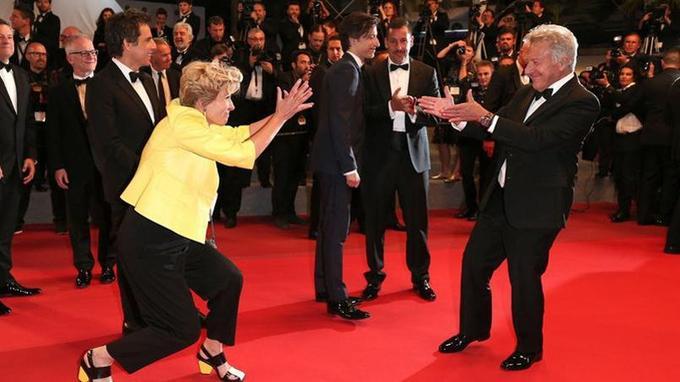 Emma Thompson et Dustin Hoffman ont clairement apprécié de monter les marches.Crédits photo: Gisela Schober/ Getty Images