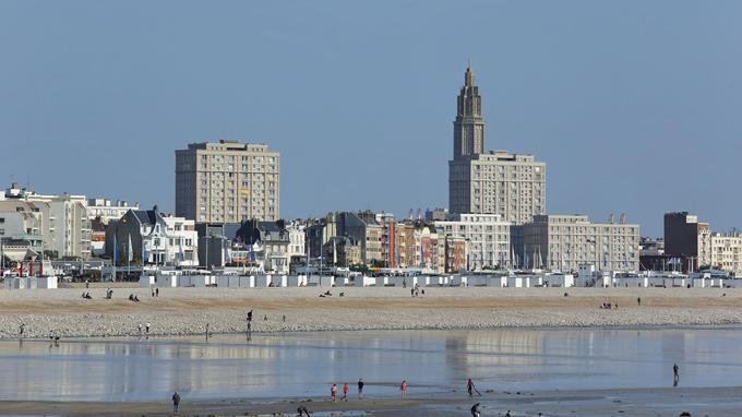 Le Havre, par marée basse. ©Ville du Havre